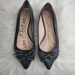 Sam Edelman flats with bow and spiked studs